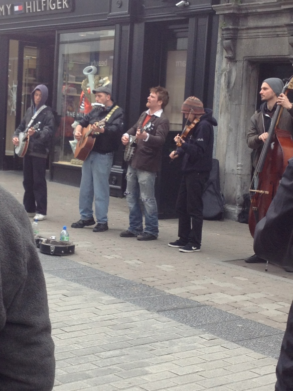 Buskers doing their thing